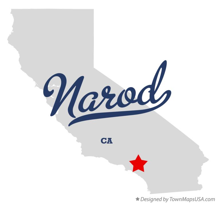 Map of Narod California CA
