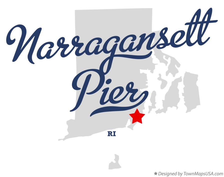 Map of Narragansett Pier Rhode Island RI