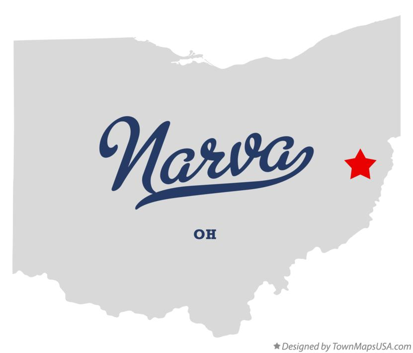 Map of Narva Ohio OH