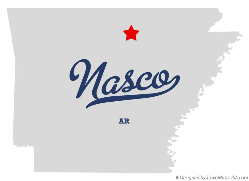 Map of Nasco Arkansas AR