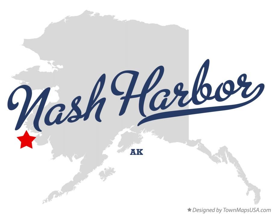 Map of Nash Harbor Alaska AK
