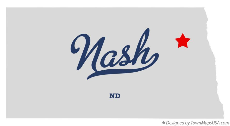 Map of Nash North Dakota ND