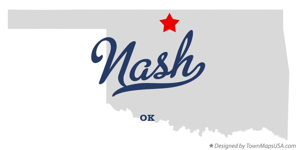 Map of Nash Oklahoma OK