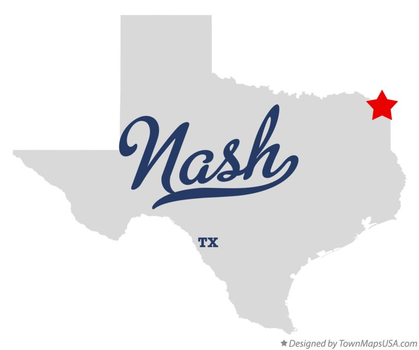 Map of Nash Texas TX