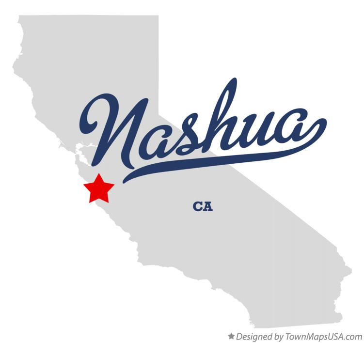 Map of Nashua California CA