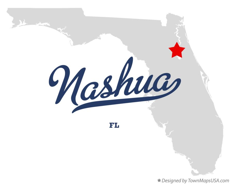 Map of Nashua Florida FL