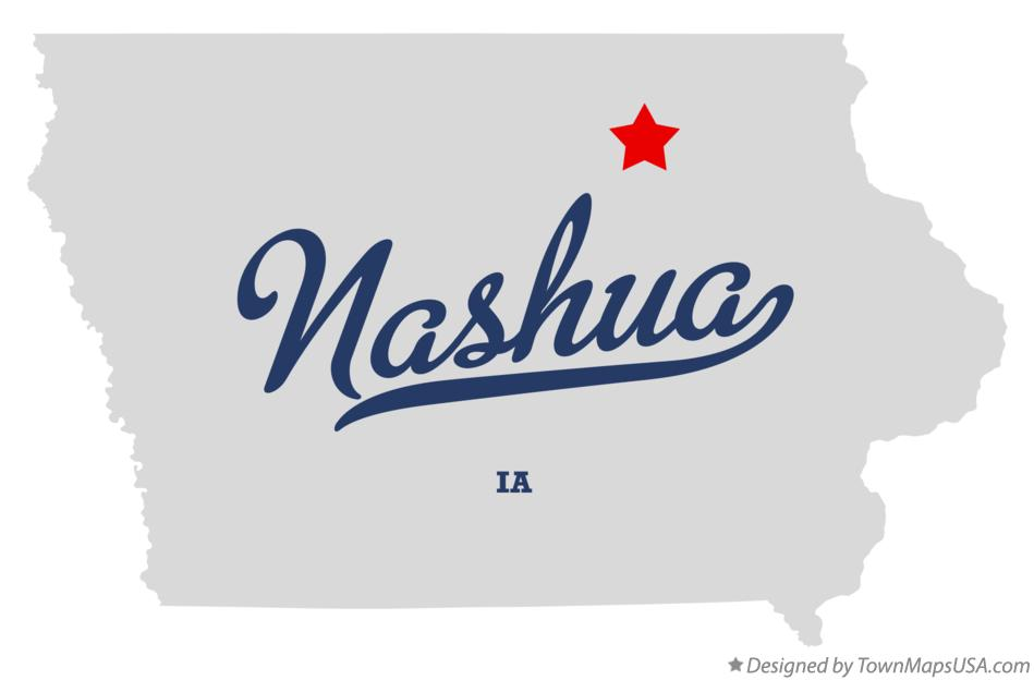 Map of Nashua Iowa IA