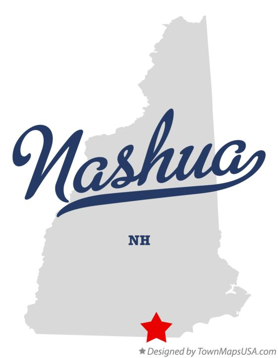 Map of Nashua NH New Hampshire