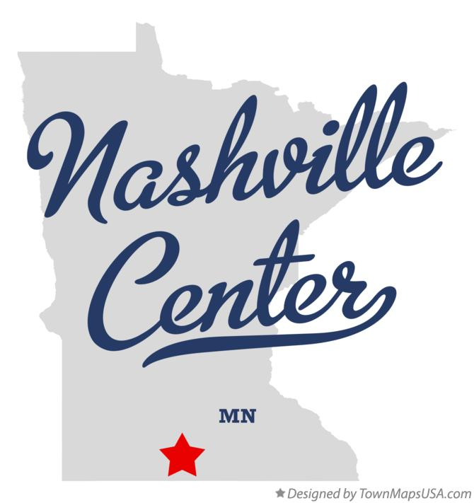 Map of Nashville Center Minnesota MN