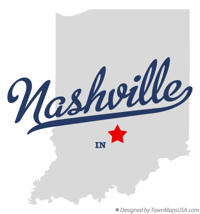 Map of Nashville Indiana IN