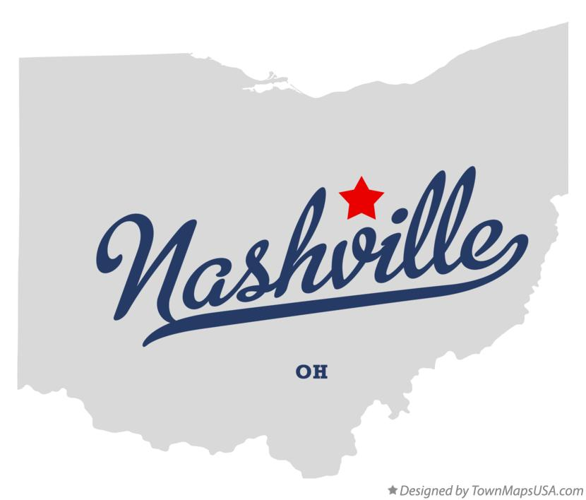 Map of Nashville Ohio OH