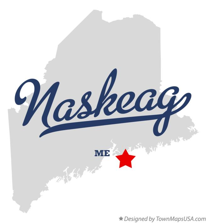 Map of Naskeag Maine ME