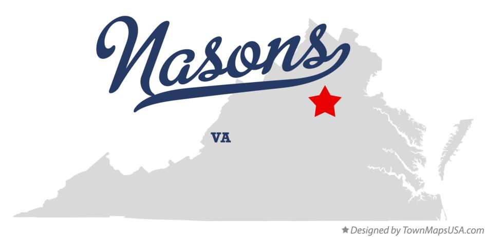 Map of Nasons Virginia VA