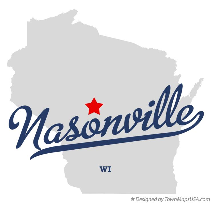 Map of Nasonville Wisconsin WI