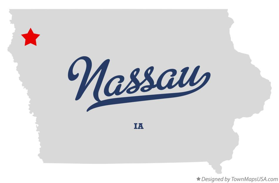 Map of Nassau Iowa IA