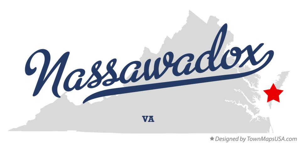 Map of Nassawadox Virginia VA
