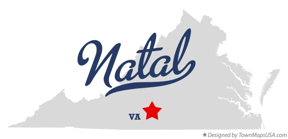 Map of Natal Virginia VA
