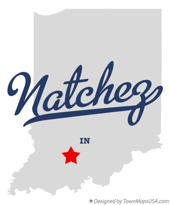 Map of Natchez Indiana IN