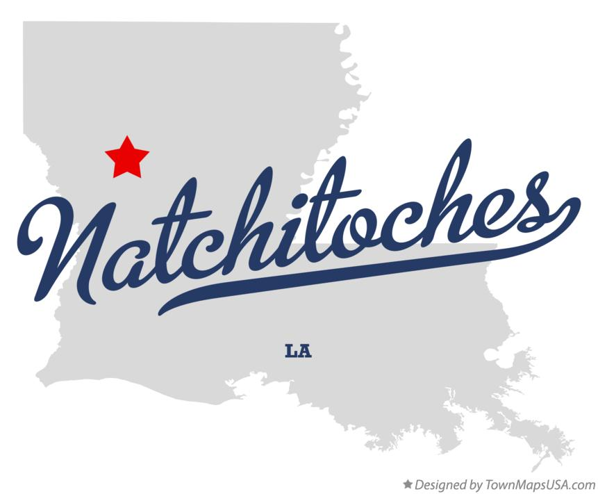 Map of Natchitoches Louisiana LA