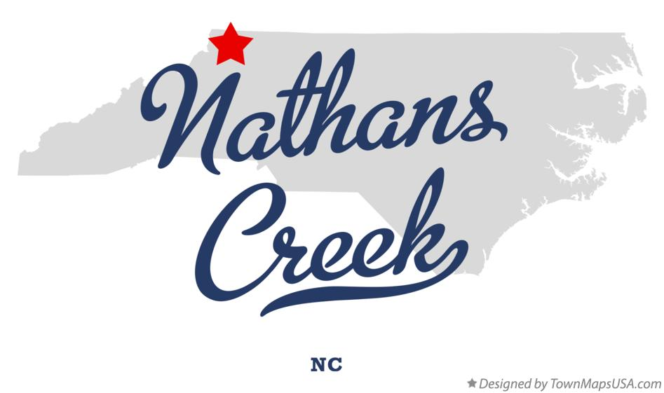 Map of Nathans Creek North Carolina NC