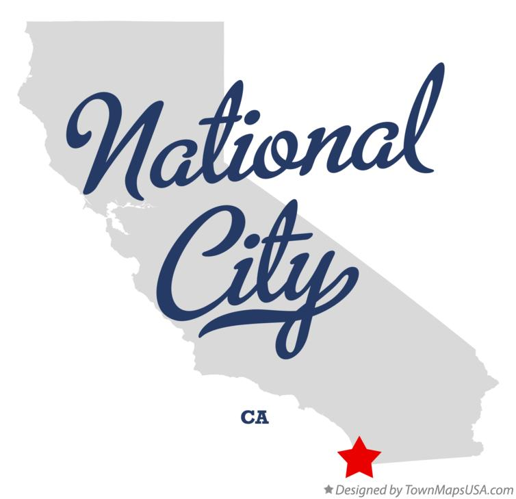 Map of National City California CA