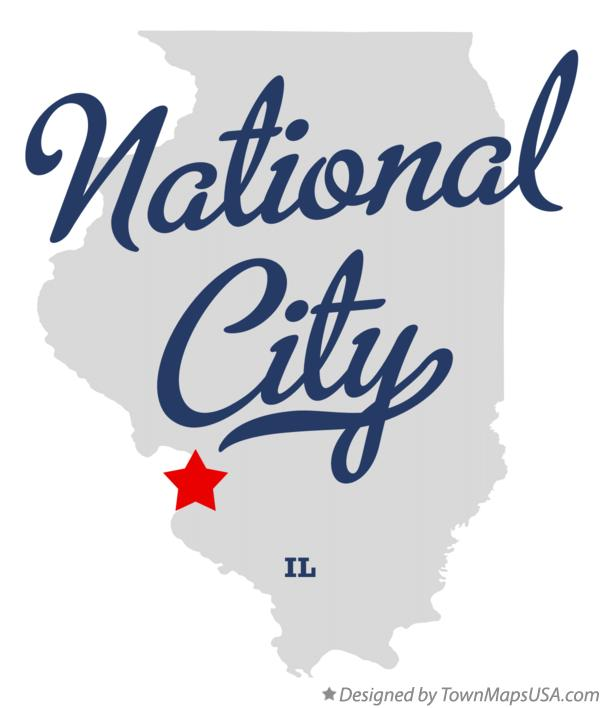 Map of National City Illinois IL