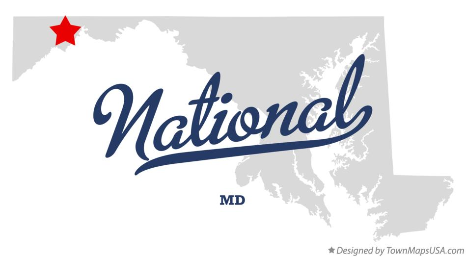 Map of National Maryland MD