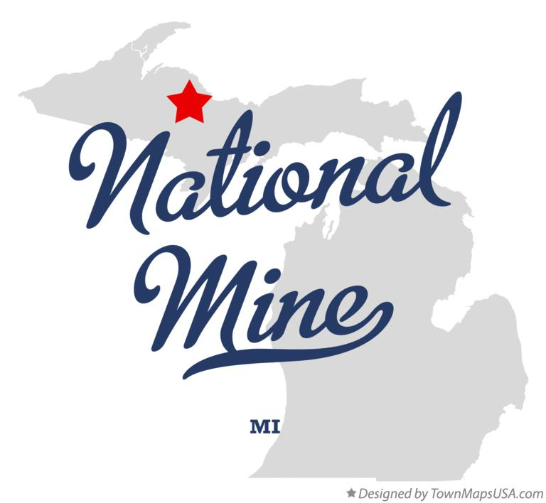 Map of National Mine Michigan MI