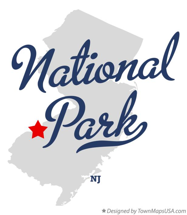 Map of National Park New Jersey NJ
