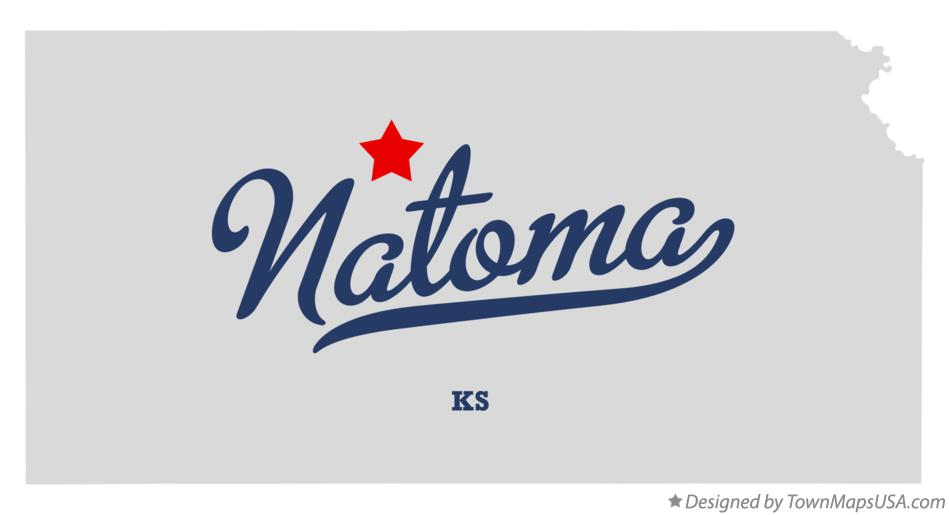 Map of Natoma Kansas KS
