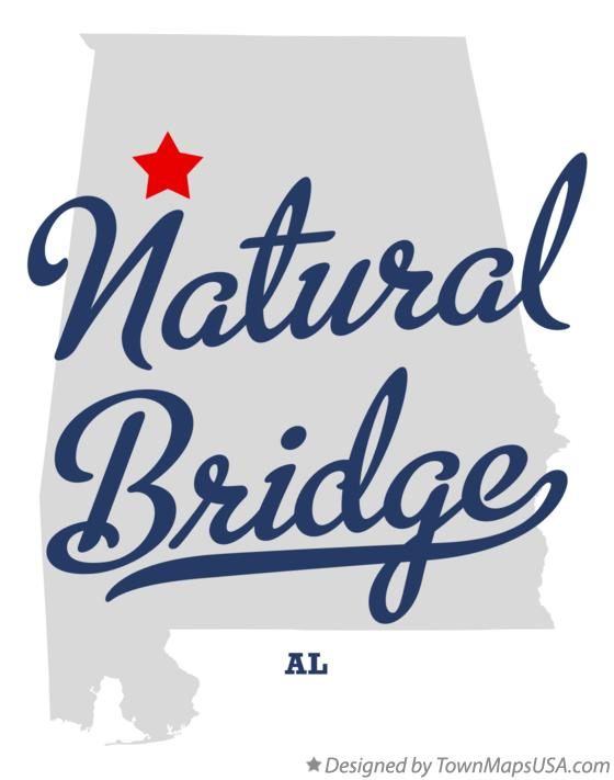 Map of Natural Bridge Alabama AL