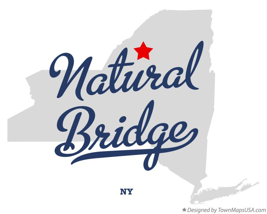 Map of Natural Bridge New York NY