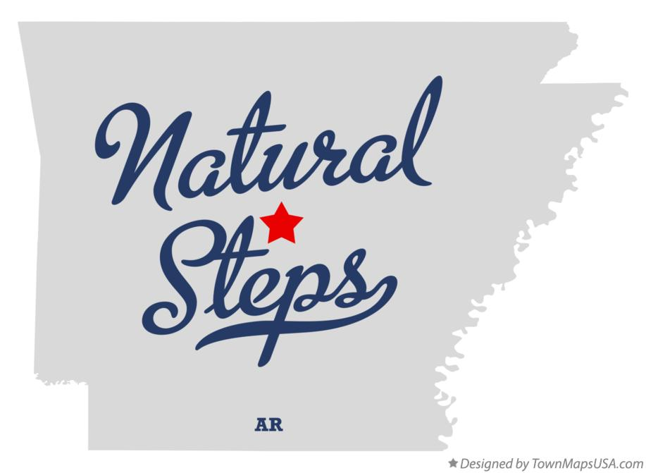 Map of Natural Steps Arkansas AR