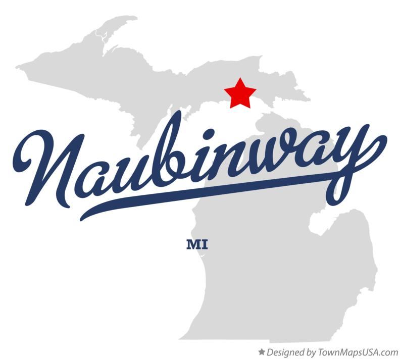 Map of Naubinway Michigan MI