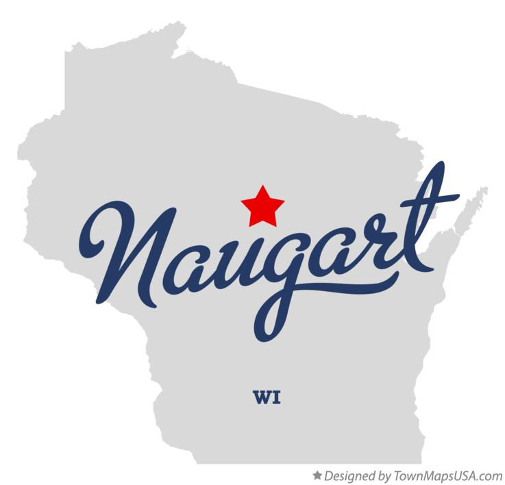 Map of Naugart Wisconsin WI