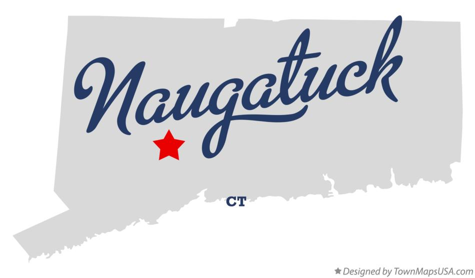 Map of Naugatuck Connecticut CT
