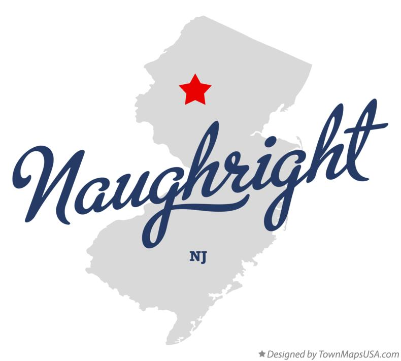 Map of Naughright New Jersey NJ