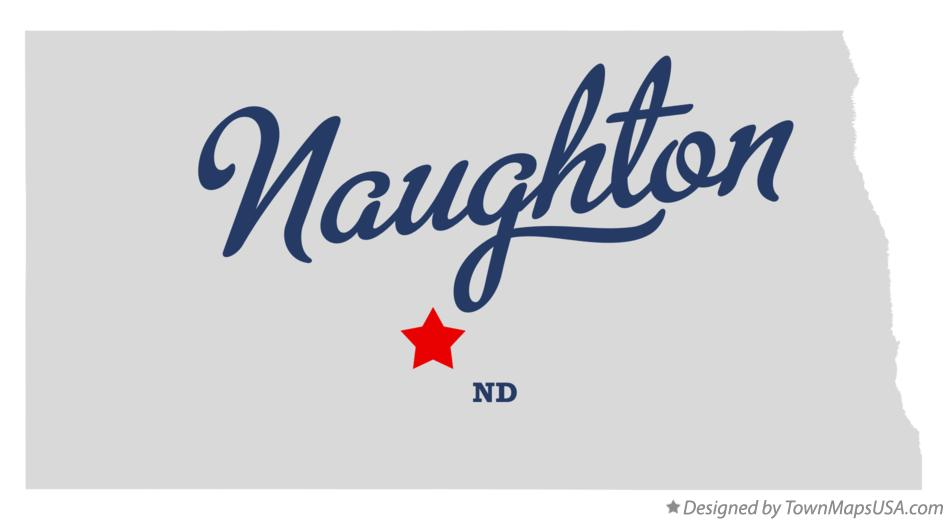 Map of Naughton North Dakota ND