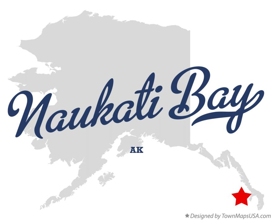 Map of Naukati Bay Alaska AK