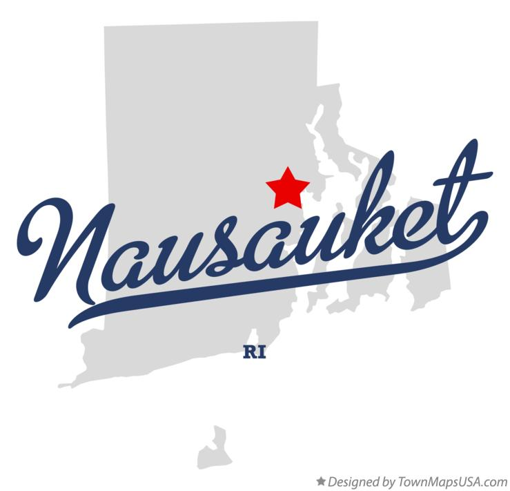 Map of Nausauket Rhode Island RI