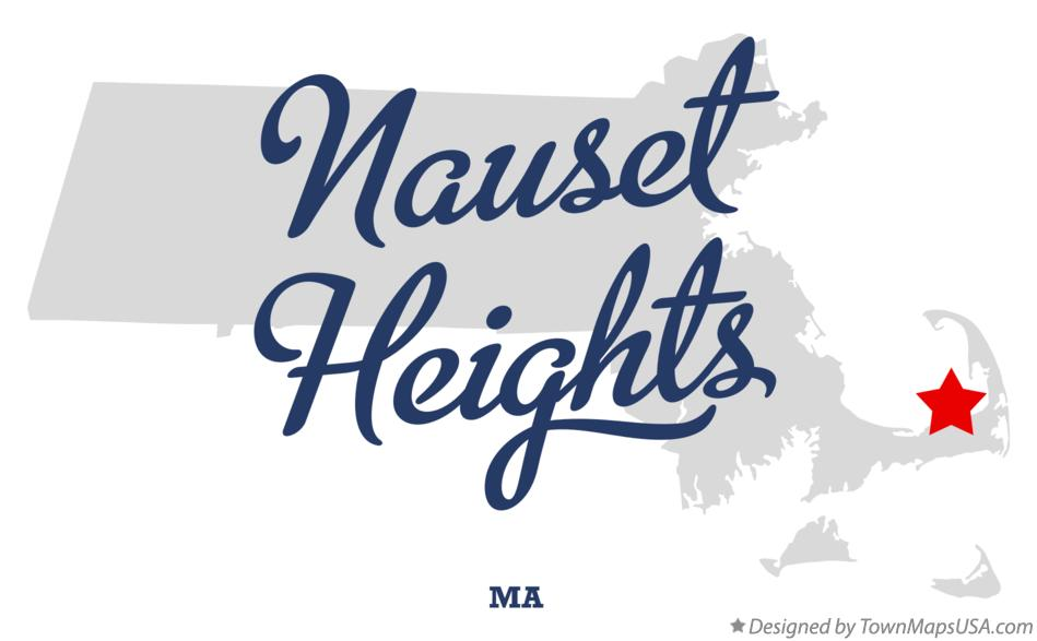 Map of Nauset Heights Massachusetts MA