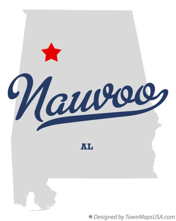 Map of Nauvoo Alabama AL