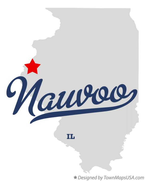 Map Of Nauvoo Il Illinois