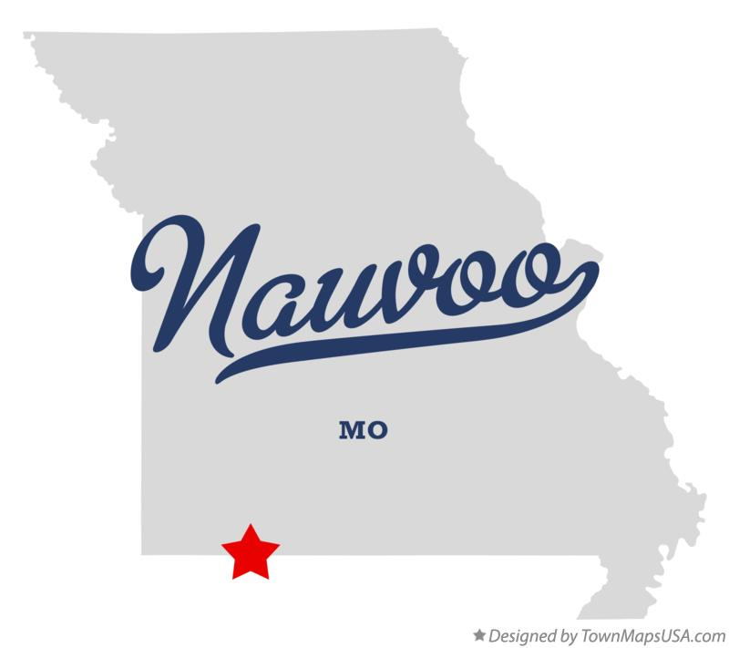 Map of Nauvoo Missouri MO