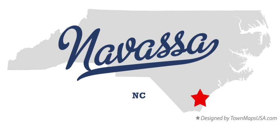 Map of Navassa North Carolina NC