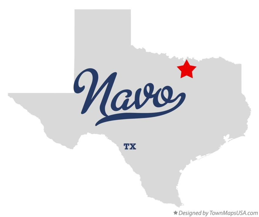 Map of Navo Texas TX