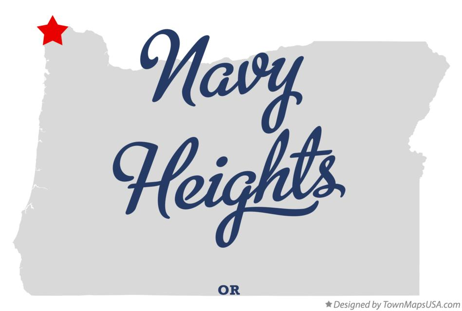 Map of Navy Heights Oregon OR