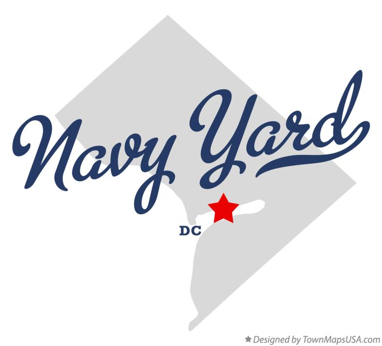 Map of Navy Yard District Of Columbia DC