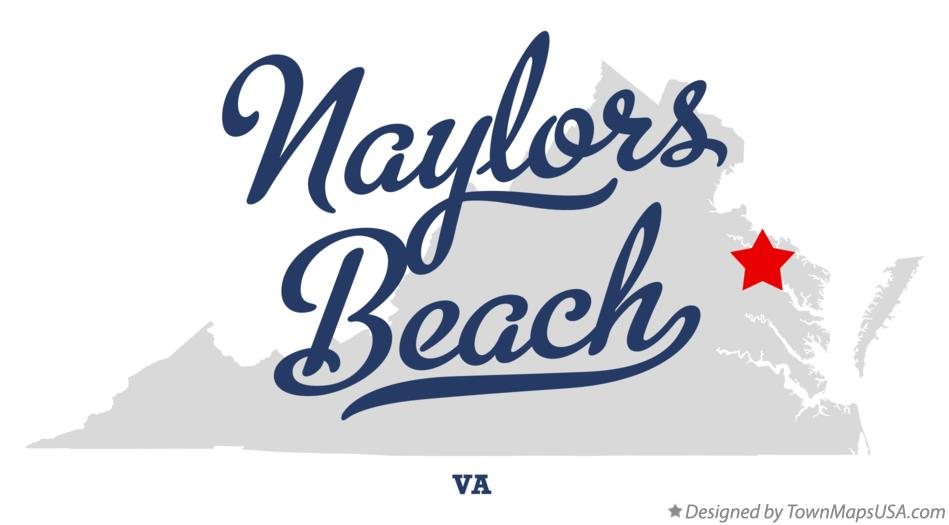 Map of Naylors Beach Virginia VA