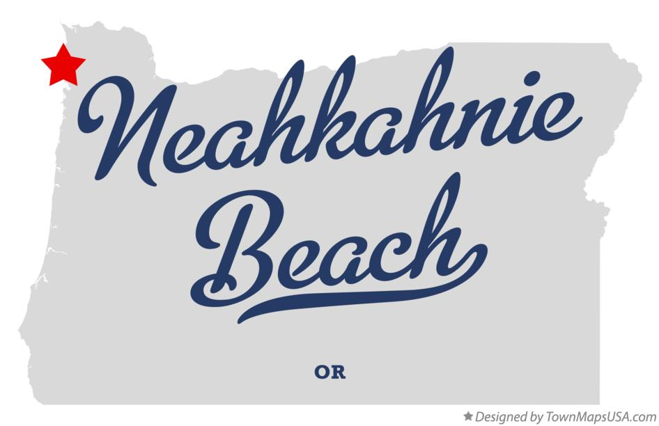 Map of Neahkahnie Beach Oregon OR